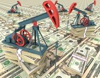 De pompen van de olie stock illustratie