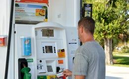 De Pompen van Shell Fuel Dispenser /Gas royalty-vrije stock fotografie