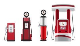 De pompillustraties van de benzine Stock Afbeelding