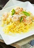De Pompoen & de Garnalen van de spaghetti stock fotografie