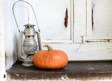 De pompoen en de lantaarn van Halloween Royalty-vrije Stock Afbeelding