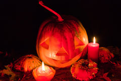 De pompoen van Halloween stock afbeeldingen