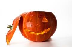 De Pompoen van Halloween, binnen aangestoken door lichte, griezelige loo stock fotografie