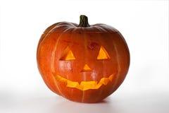 De Pompoen van Halloween, binnen aangestoken door lichte, griezelige loo royalty-vrije stock foto's