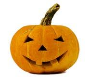 De pompoen van Halloween die op wit wordt geïsoleerde royalty-vrije stock foto's
