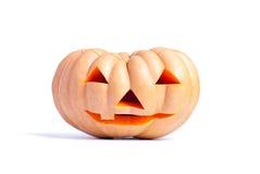 De Pompoen van Halloween die op witte achtergrond wordt geïsoleerde Royalty-vrije Stock Afbeeldingen