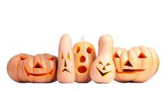 De Pompoen van Halloween die op witte achtergrond wordt geïsoleerde Stock Fotografie
