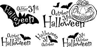 De pompoen van Halloween, hefboom-o-lantaarn royalty-vrije illustratie