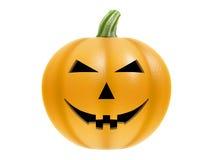 De pompoen van Halloween op wit Stock Afbeelding