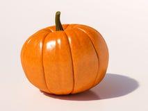De pompoen van Halloween op wit Stock Afbeeldingen