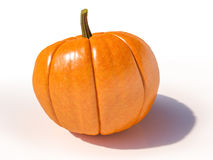 De pompoen van Halloween op wit Royalty-vrije Stock Fotografie