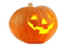 De Pompoen van Halloween van de Lantaarn van de hefboom O Stock Foto