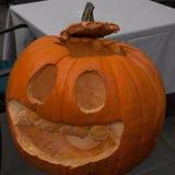 De pompoen voor Halloween-nacht Royalty-vrije Stock Foto's