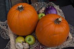 De pompoen voor Halloween-nacht Stock Foto