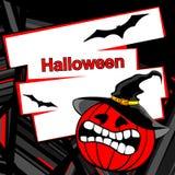 De pompoenachtergrond van Halloween Stock Afbeeldingen