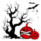 De pompoenachtergrond van Halloween Stock Afbeelding
