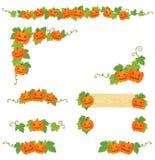 De pompoendecoratie van Halloween Stock Foto