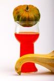 De pompoenen en de Pompoenen in Rood knallen Stock Afbeelding