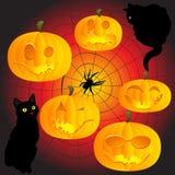 De pompoenen van Halloween royalty-vrije illustratie
