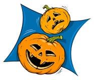 De Pompoenen van Halloween Stock Afbeeldingen
