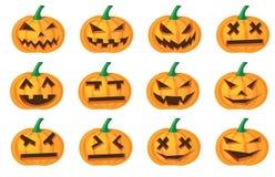 De pompoenen van Halloween stock illustratie