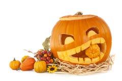 De pompoenen van Halloween Stock Afbeelding