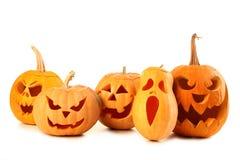 De pompoenen van Halloween Stock Foto