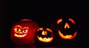 De Pompoenen van Halloween Stock Foto's