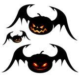 De pompoenen van Halloween met vleugels stock illustratie