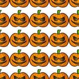 De pompoenen van Halloween Naadloos patroon Royalty-vrije Stock Afbeelding