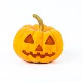 De pompoenen van Halloween op witte achtergrond Stock Afbeeldingen