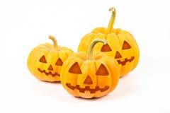 De pompoenen van Halloween op witte achtergrond Royalty-vrije Stock Foto's