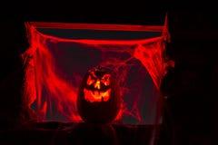 De Pompoenen van kaarslit Halloween Royalty-vrije Stock Afbeeldingen