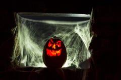 De Pompoenen van kaarslit Halloween Royalty-vrije Stock Foto