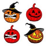 De pompoenenachtergrond van Halloween Royalty-vrije Stock Foto