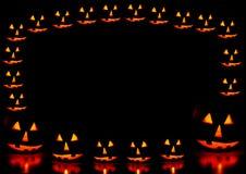 De pompoenenframe van Halloween Stock Afbeeldingen