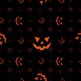 De pompoengezicht van Halloween (Naadloze textuur) Stock Afbeeldingen