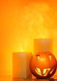 De pompoengrens van Halloween Royalty-vrije Stock Foto