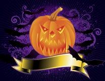 De pompoenhoofd van Halloween Royalty-vrije Stock Foto's