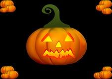 De pompoenillustratie van Halloween Stock Afbeeldingen