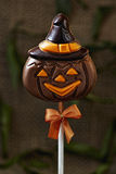 De pompoenlolly van chocoladehalloween Royalty-vrije Stock Foto's