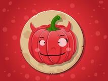 De pompoenpictogram van het duivelsmeisje Royalty-vrije Stock Afbeeldingen
