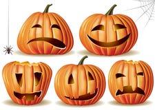 De pompoenreeks van Halloween Royalty-vrije Stock Afbeeldingen