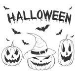 De pompoenreeks van Halloween Stock Afbeelding