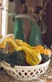 De pompoensamenstelling van de herfst Stock Afbeeldingen