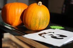 De pompoenstencil van Halloween Royalty-vrije Stock Afbeeldingen