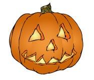 De pompoenvector van Halloween Stock Foto