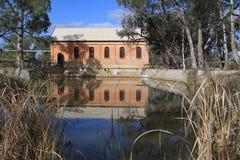 De Pomppost van de psycheskromming, Mildura, Victoria Royalty-vrije Stock Foto