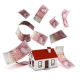 De ponden van de huishypotheek Stock Afbeelding