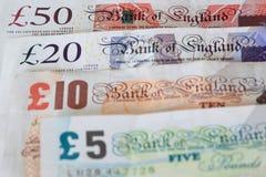 De ponden van Groot-Brittannië Stock Afbeeldingen